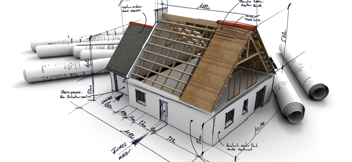 3D rendering of an architecture model 2